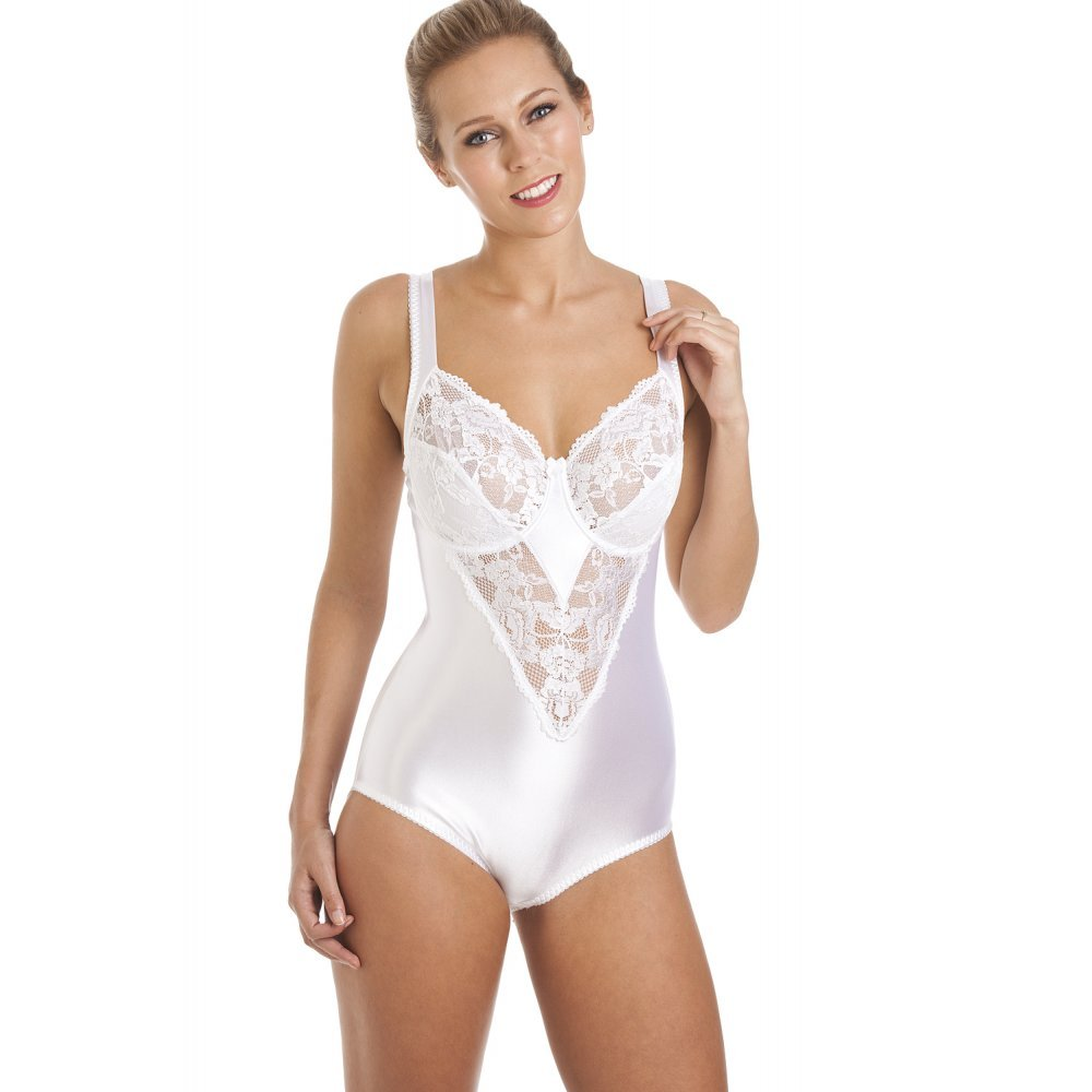 a23611d2099b1 Camille Womens Ladies White Underwired Non Padded Floral Lace Shapewear  Body 36D
