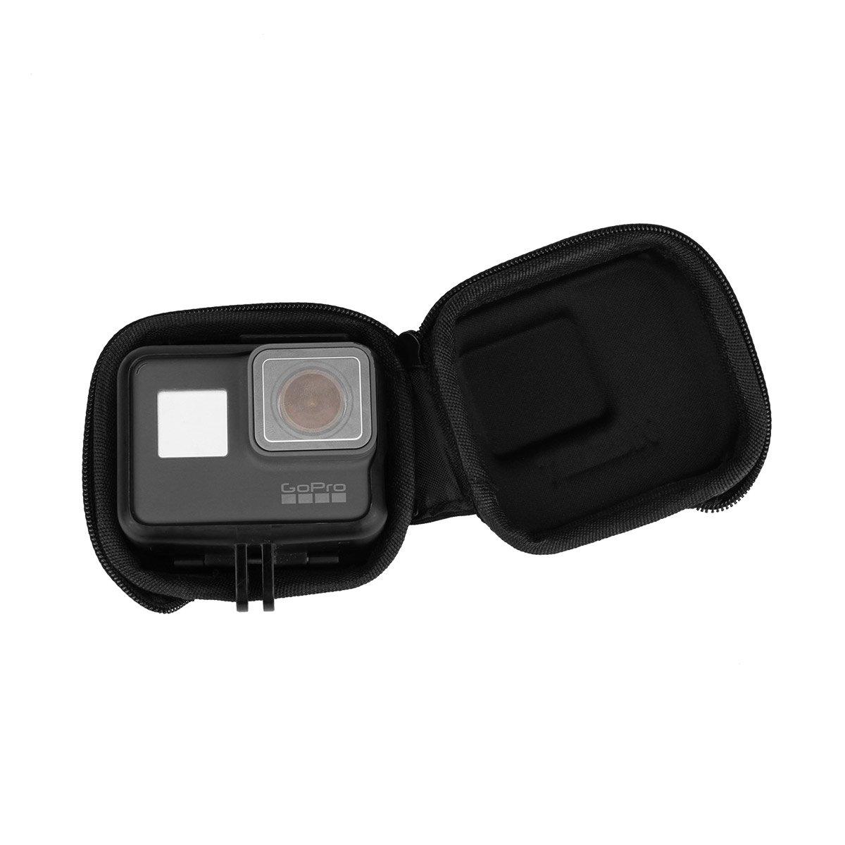 2018 Negro AK025 Accesorios para c/ámara Estuche de Almacenamiento Protector peque/ño Cuando Equipado con Selfie Stick para GoPro Hero 5 Hero 6 Hero AuyKoo Estuche para c/ámara port/átil