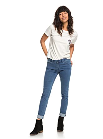 Roxy Womens Crazy Maze - Skinny Fit Jeans - Women - 24 - Blue Medium Blue b470a5bb44cf