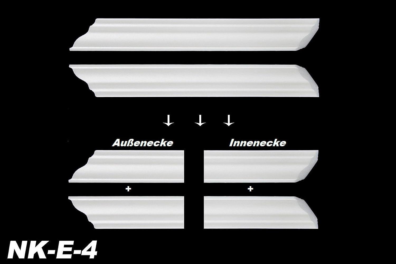 Modell:NK-E-15 NK-E E-15 Innenecke Au/ßenecke Stuck Innendekor f/ür Marbet Zierleisten E-1 bis E-35