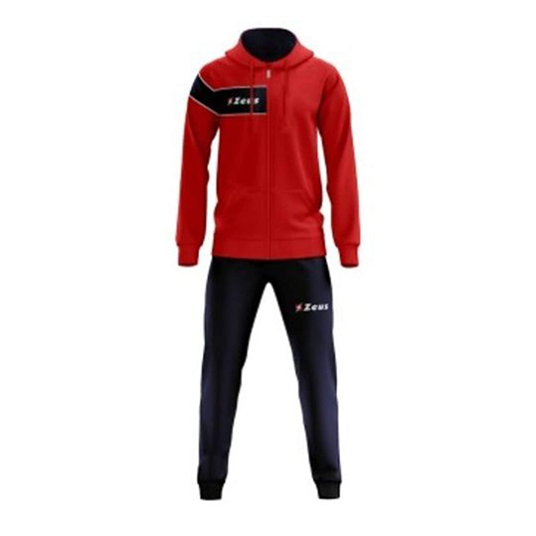 Tuta Clio Rosso-Blu Zeus Corsa Sport Uomo Staff Running jogging Allenamento Relax Calcio Calcetto Torneo Scuola Sport