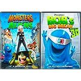 Ginormous Double Pack Monsters vs. Aliens / B.O.B.'s Big Break in Monster 3D