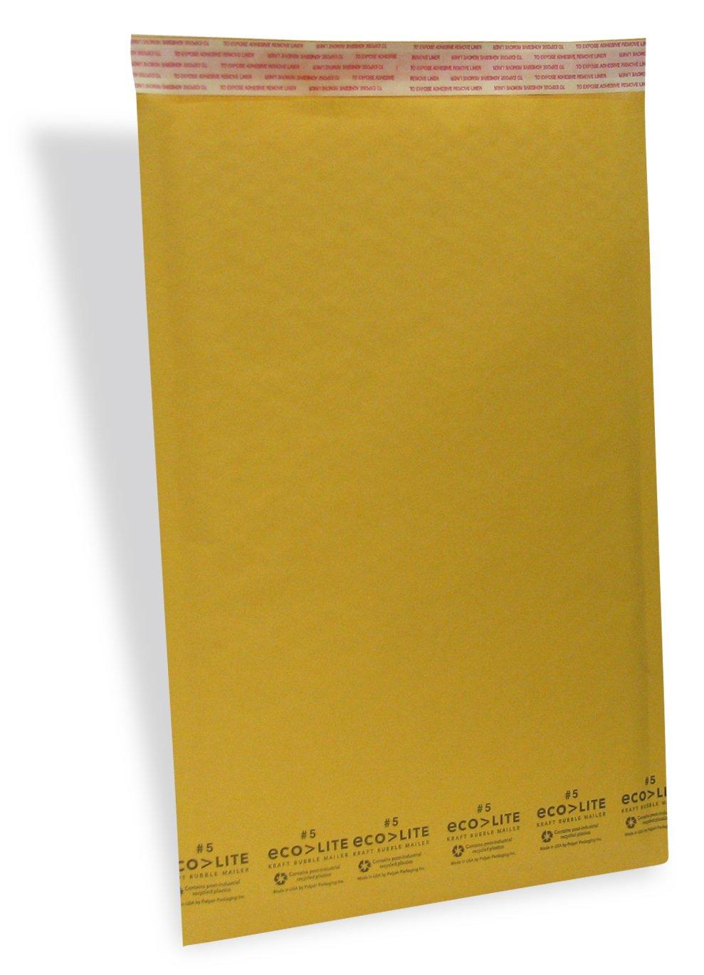Ecolite 5 Self-Sealing Kraft Bubble Mailers, 16'' H x 10.5'' W, 100 Box