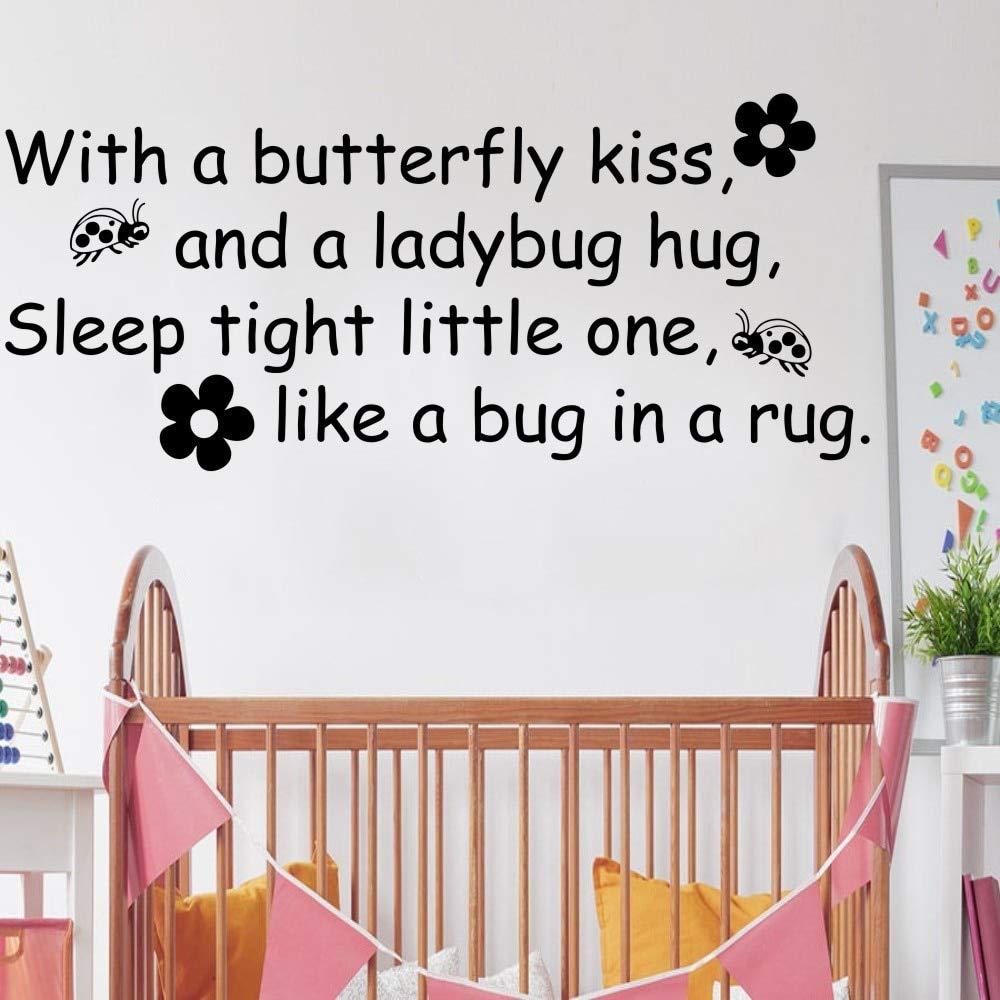 Niños tatuajes de pared mariposa beso mariquita abrazo cita vinilo ...