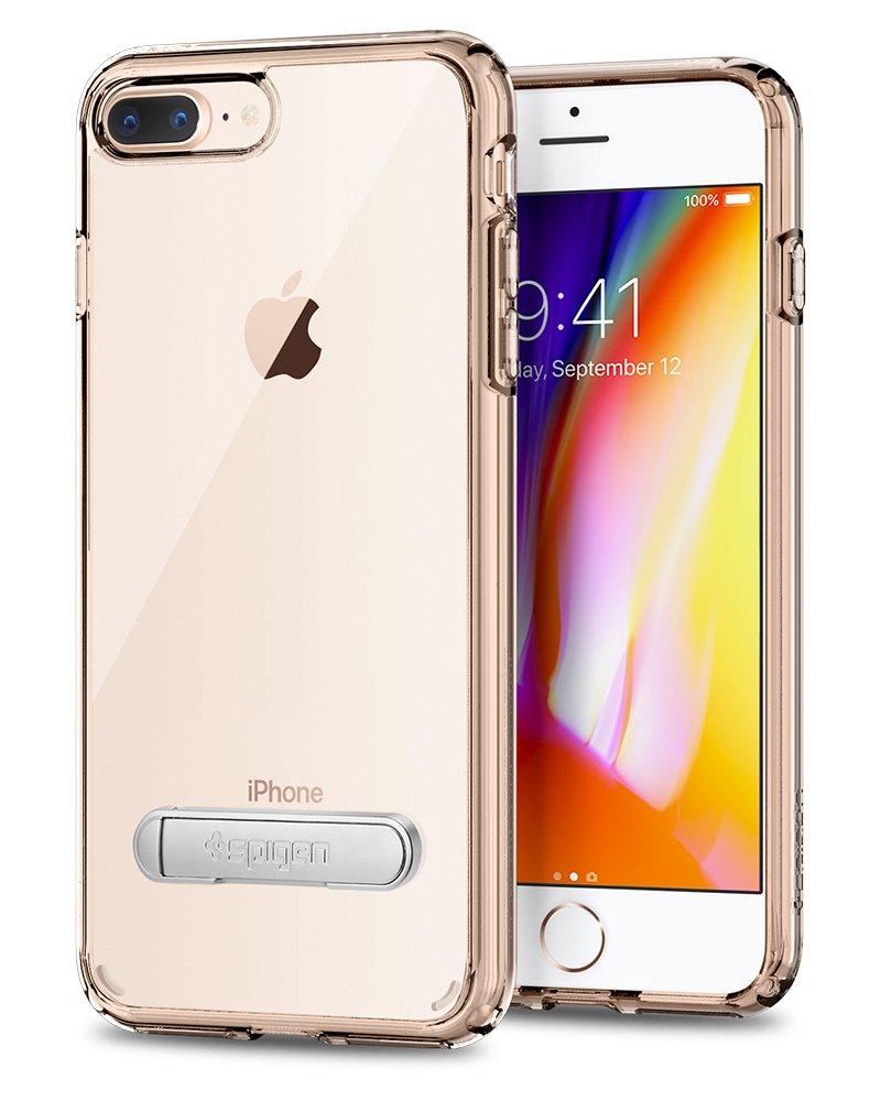 online store 292ea dc293 Spigen Ultra Hybrid S [2nd Generation] Designed for Apple iPhone 8 Plus  Case (2017) / Designed for iPhone 7 Plus Case (2016) - Crystal Clear