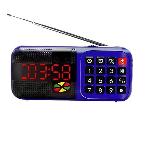 Bao core LED Digital pantalla alarma de viaje Reloj FM Radio ...