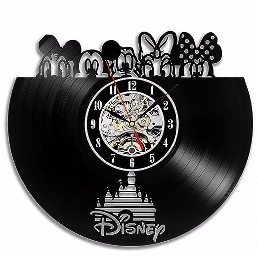 Ho Clock Reloj de Pared 12 Pulgadas Mickey Mouse CD Negro ...