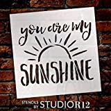 You Are My Sunshine Stencil by StudioR12   Reusable Mylar Template   Painting, Chalk, Mixed Media   Use This for DIY Home Decor - STCL1513_6   Multiple Sizes Available (16'' x 19'')