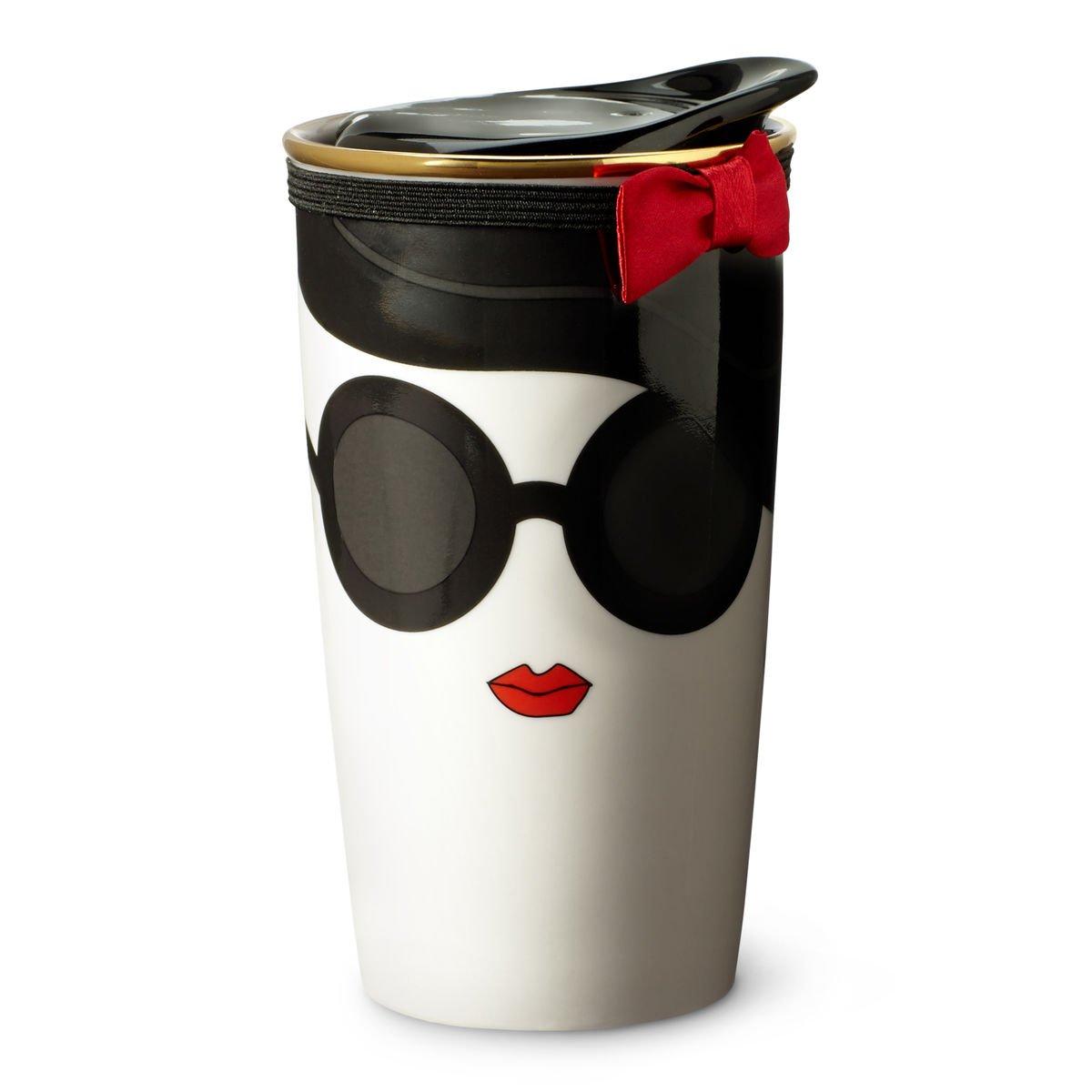 Starbucks Alice + Olivia Double Wall Traveler Mug - Stace Face, 12 fl oz by Starbucks