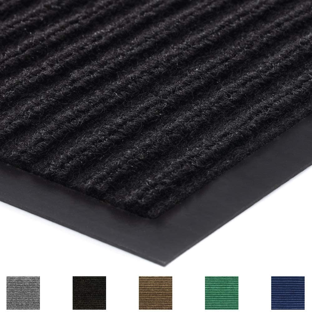 Gorilla Grip Original Commercial Grade Rubber Door Mat, 72x48, Heavy Duty, Durable Doormat for Indoor and Outdoor, Waterproof, Easy Clean, Low-Profile Mats for Entry, Patio, High Traffic, Black