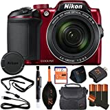 Nikon COOLPIX B500 16MP Point & Shoot Digital Camera (Retail Packaging) (Basic Kit, Red)