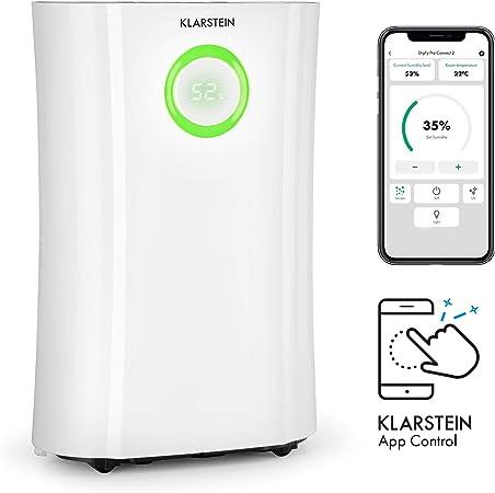 KLARSTEIN DryFy Pro Connect deshumidificador - Deshumidificador por compresión, purificador de Aire Integrado con Filtro, ionizador y función UV, Interfaz WiFi, Potencia 370 W, Blanco: Amazon.es: Hogar