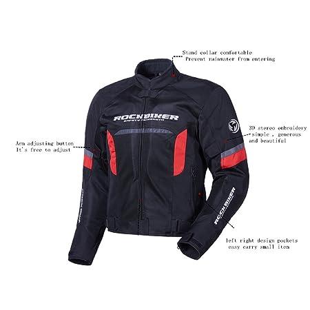 Amazon.com: Para hombre chamarra de moto + Protector ...
