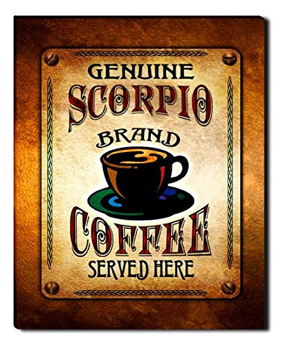 Scorpio Brand Coffee Gallery Wrapped Canvas Print
