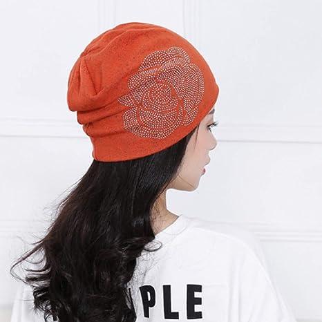 XJDMG Sombrero de Punto Wool Hat Gorra Gorro De Algodón De Mujer Gorros De Invierno para