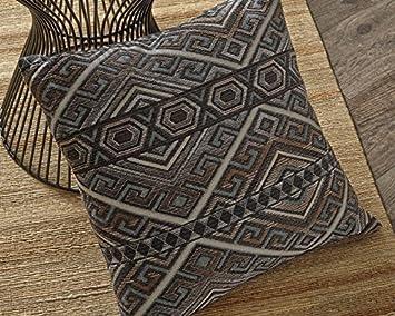 Peking Handicraft Hook Pillow, Yellow Sunflower, 18-by-18-Inch