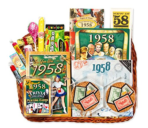 60th Birthday or 60th Anniversary Gift Basket