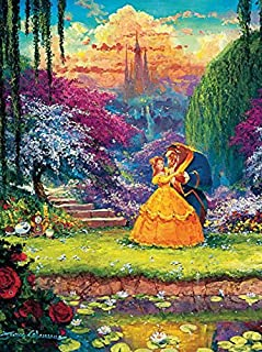 product image for Ceaco James Coleman Disney Fine Art Beauty & The Beast Garden Waltz Jigsaw Puzzle, 550 Pieces