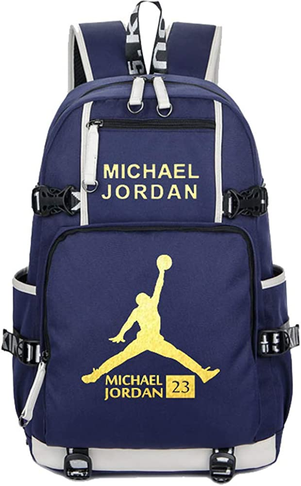 SJYMKYC Aficionados Al Baloncesto Mochila Escolar Michael Jordan ...