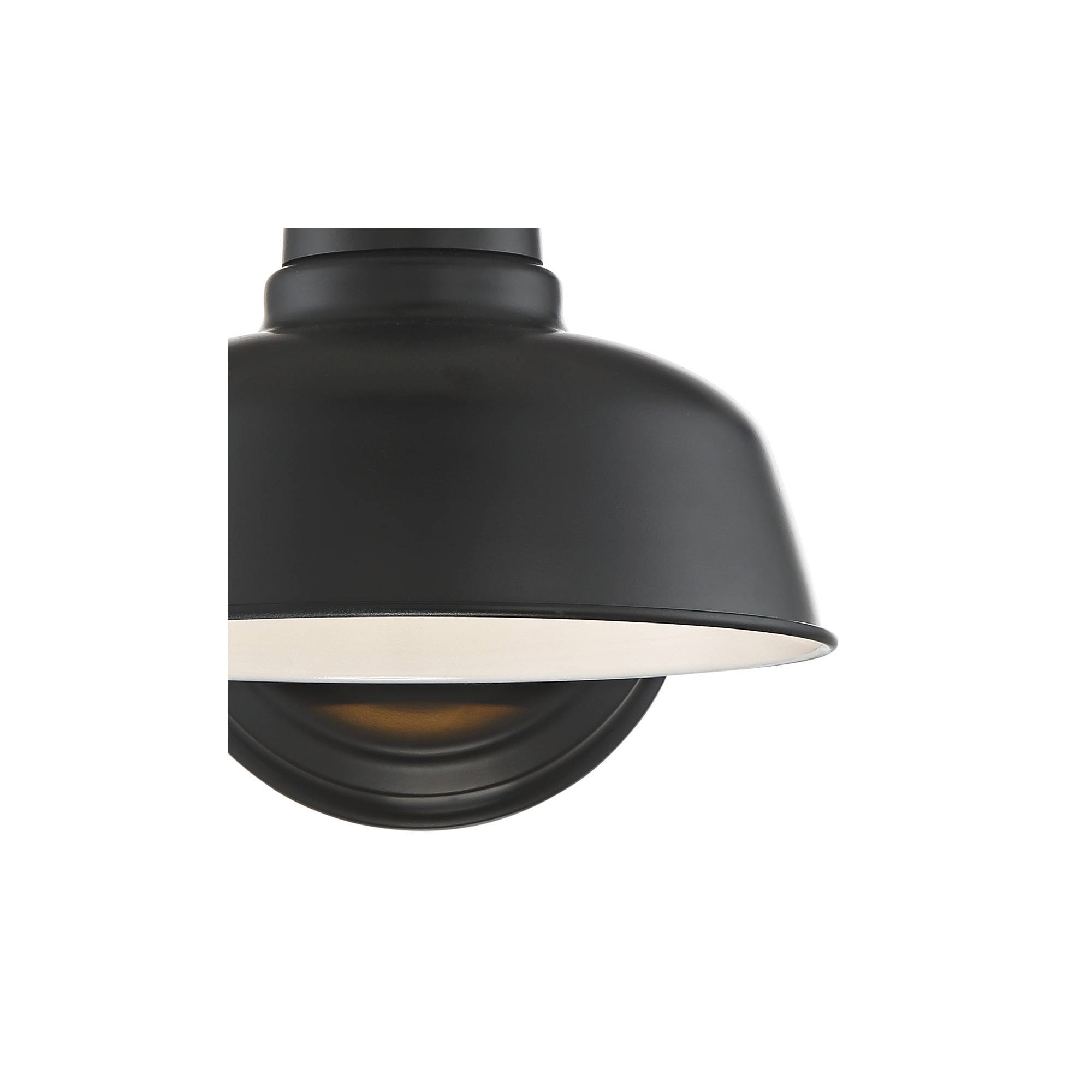 Urban Barn Rustic Outdoor Wall Light Fixture Farmhouse Black 11 1/4'' Sconce for Exterior House Deck Patio - John Timberland by John Timberland (Image #3)