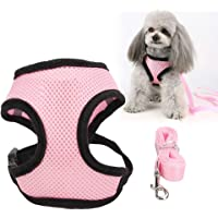 Tongke Cat/Dog Harness and Leash Set,[1 Pack] Adjustable Small Vest Harnesses for Cats with 46 Inches Leash, Small…