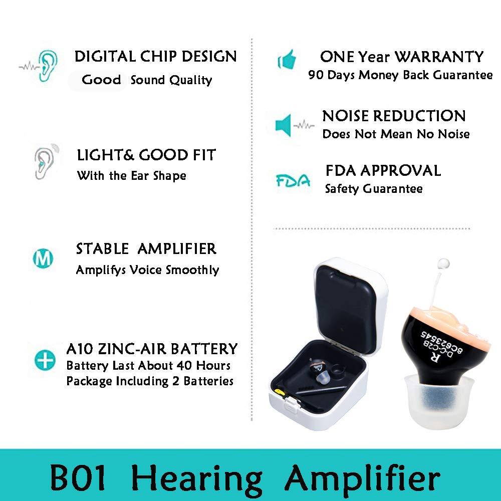 LAIWEN Hearing Amplifier Volume Control Invisible PSAP Noise Reduction CIC hearing Sound Amplifier for Adults Seniors by LAIWEN (Image #2)