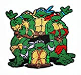 logo ninja - Teenage Mutant Ninja Turtles MASK patch patch Costume Cartoon Logo DIY Embroidered Sew Iron on Patch Cap Jacket Hoodie Backpack Ideal for Gift /10.2cm(w) x 6.5cm(h)