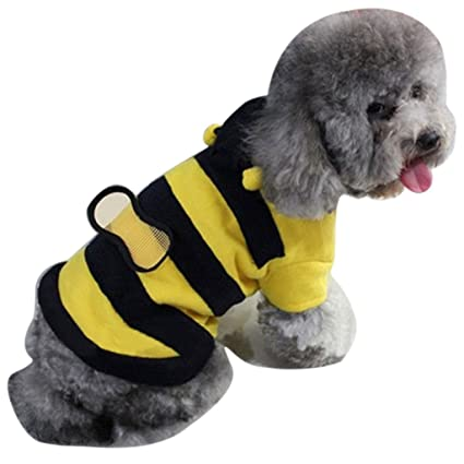 92a52dd3f86 Softmusic Bee Style Pet Cat Dog Hoodie Clothes Puppy Apparel Costume Coat  Outfit size XS (