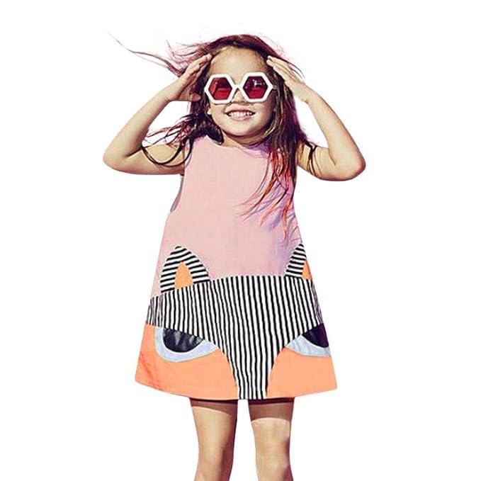 JIANGFU Kinder / ärmellos / Fuchs Muster / Kleid, Kleinkind Kind ...