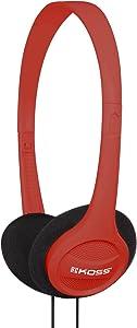 Koss KPH7R Portable On-Ear Headphone with Adjustable Headband - Red