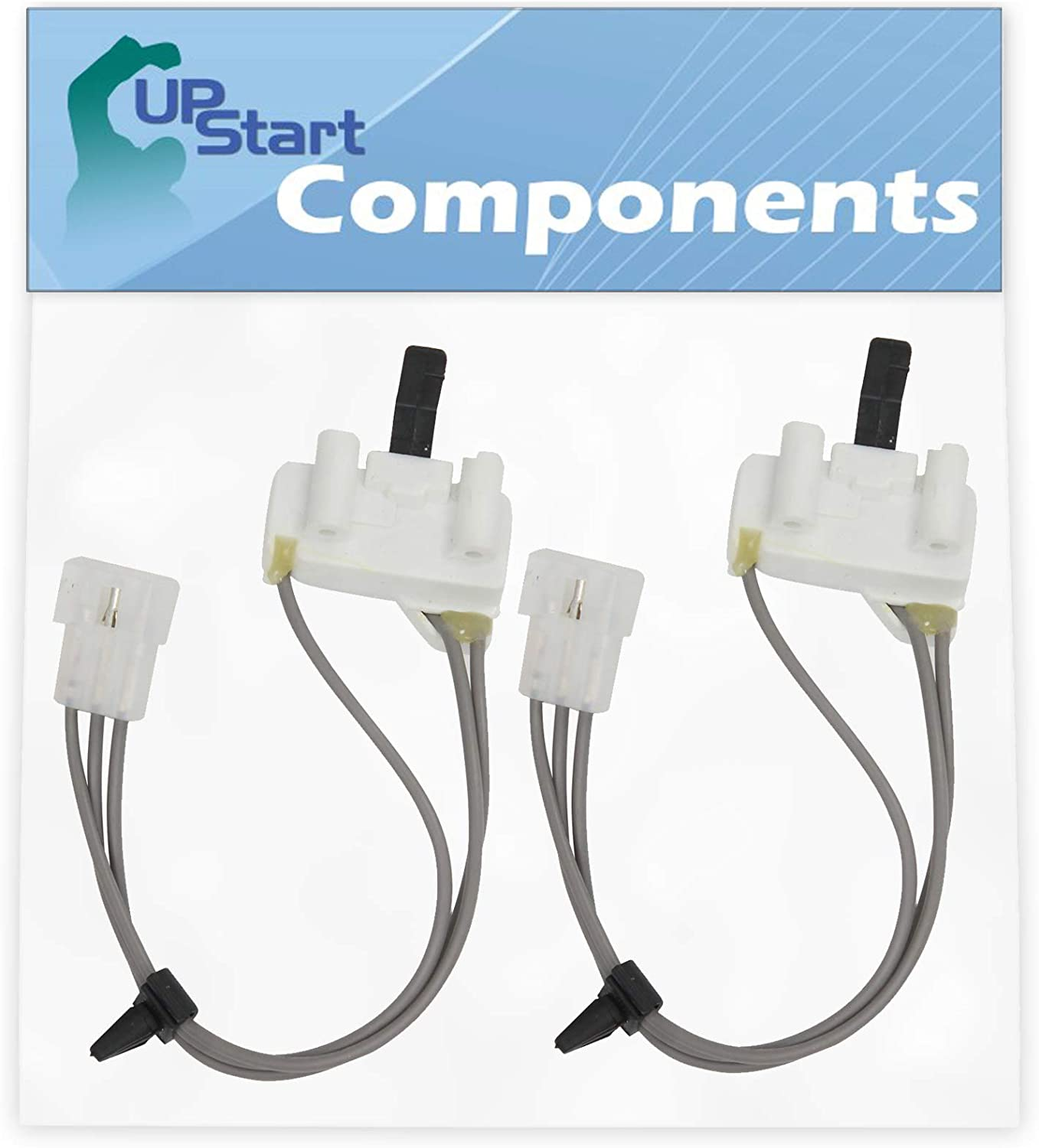 2-Pack 3406105 Dryer Door Switch Replacement for Whirlpool, Roper & Estate Dryers - Compatible with Part Number AP6008560, 3405104, 3405105, 3406104, PS11741700