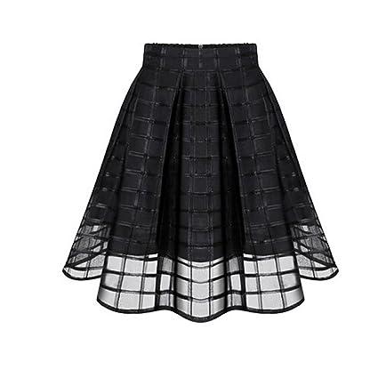 Faldas, Challeng Faldas de organza de las mujeres falda de tul de ...