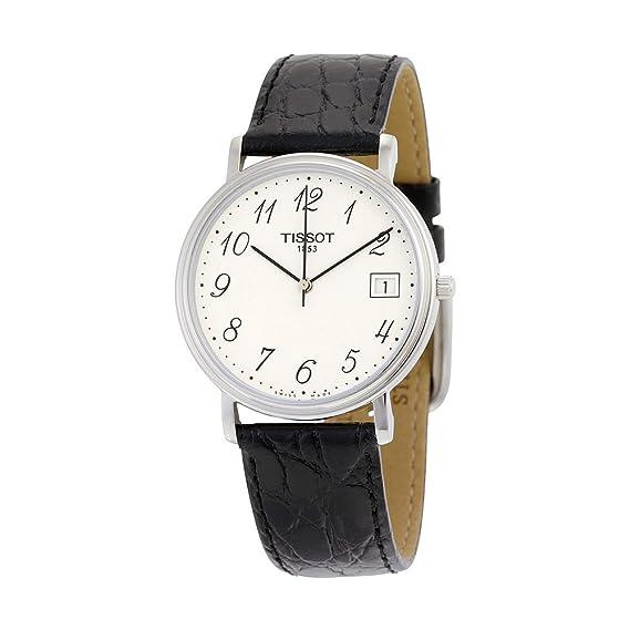 Tissot T52142112 - Reloj analógico de mujer de cuarzo con correa de piel negra