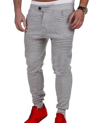 Homme Pantalon de Sport Jogging Sarouel Fitness Loose Crotch Pants  Amazon. fr  Vêtements et accessoires c2e6ccf3383