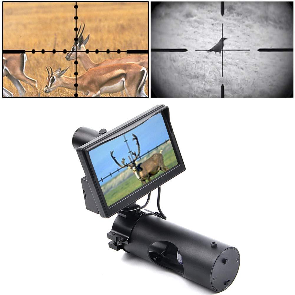 RHYTHMARTS Digital Night Vision Monoculars Scope for Rifle Hunting with Camera and 5'' Display Screen by RHYTHMARTS