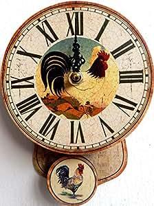 Reloj de pendulo diseno gallo mini pendulo reloj de la - Reloj cocina diseno ...