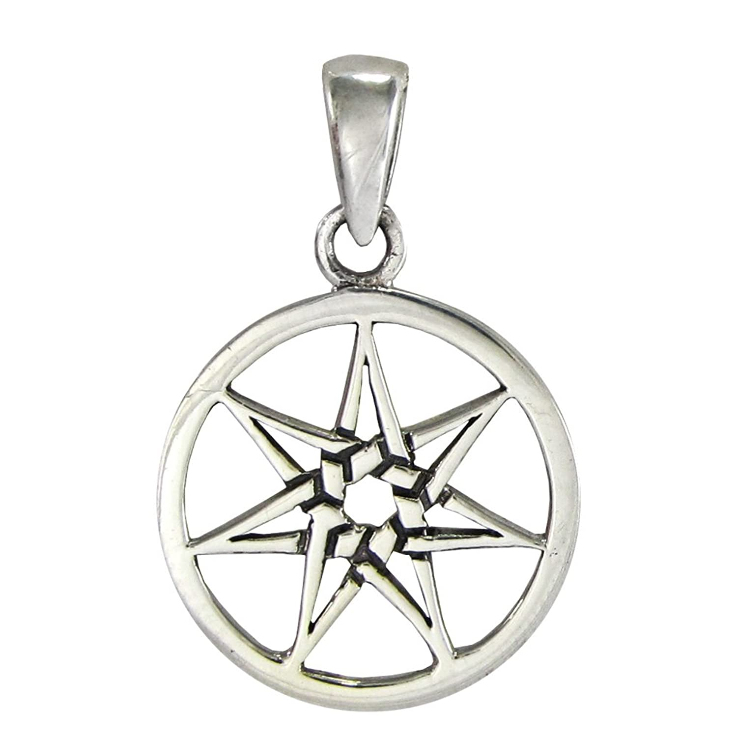 Amazon small sterling silver septagram heptagram fairy star amazon small sterling silver septagram heptagram fairy star pendant jewelry buycottarizona Image collections