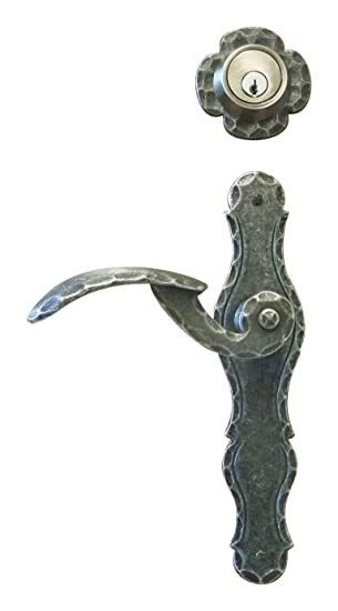 Salzburg Wrought Iron Entry Lever With Deadbolt