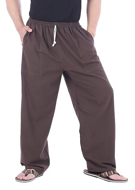 299ecc53bf CandyHusky Mens Elastic Waist Casual Lounge Pajama Jogger Yoga Pants Cotton:  Amazon.ca: Clothing & Accessories