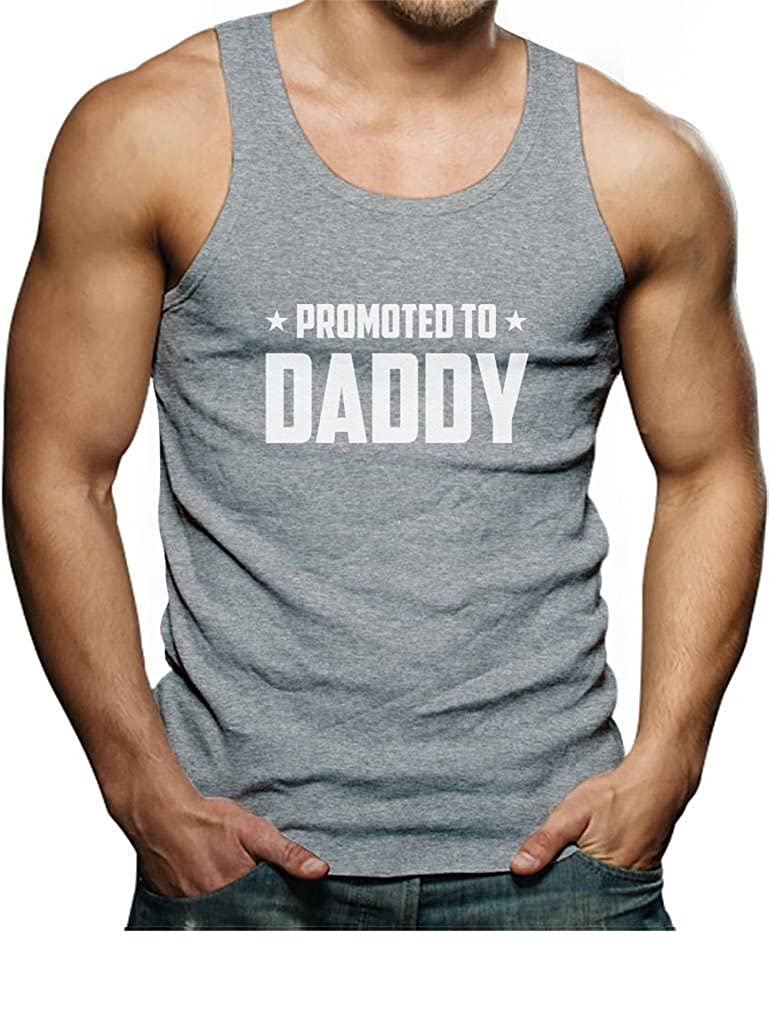 TeeStars - Promoted to Daddy for New Dads Singlet GtPhtl0gd