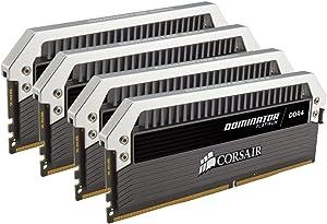 CORSAIR DOMINATOR PLATINUM 64GB (4x16GB) DDR4 3200MHz C16 Desktop Memory - CMD64GX4M4C3200C16