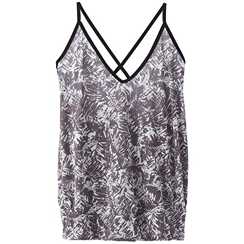 prAna Womens Ernest Top, Black Pacifica, -