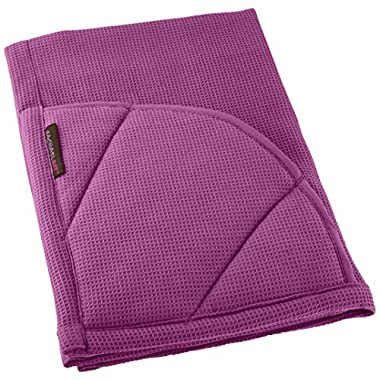 Rachael Ray Multifunctional 2-in-1 Moppine, Ultra Absorbent Kitchen Towel & Heat Resistant Pot Holder, Purple