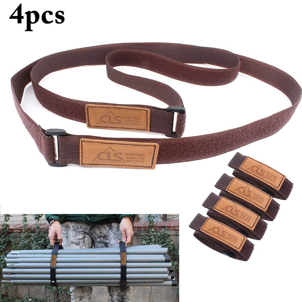 Justdolife 4PCS Luggage Strap Adjustable Suitcase Luggage Belt for Travel
