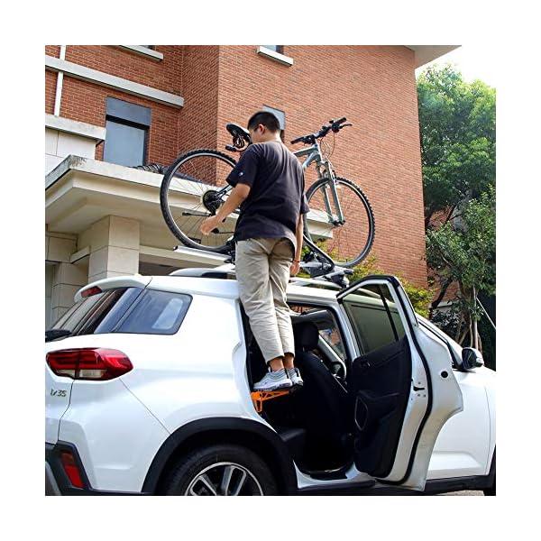61eNkfpyn8L PHATRIP Auto Türstufe Klappbare Autotür Pedal Klappleiter für Autos Unkompliziert aufs Dach Zu Kommen Universal Doorstep…