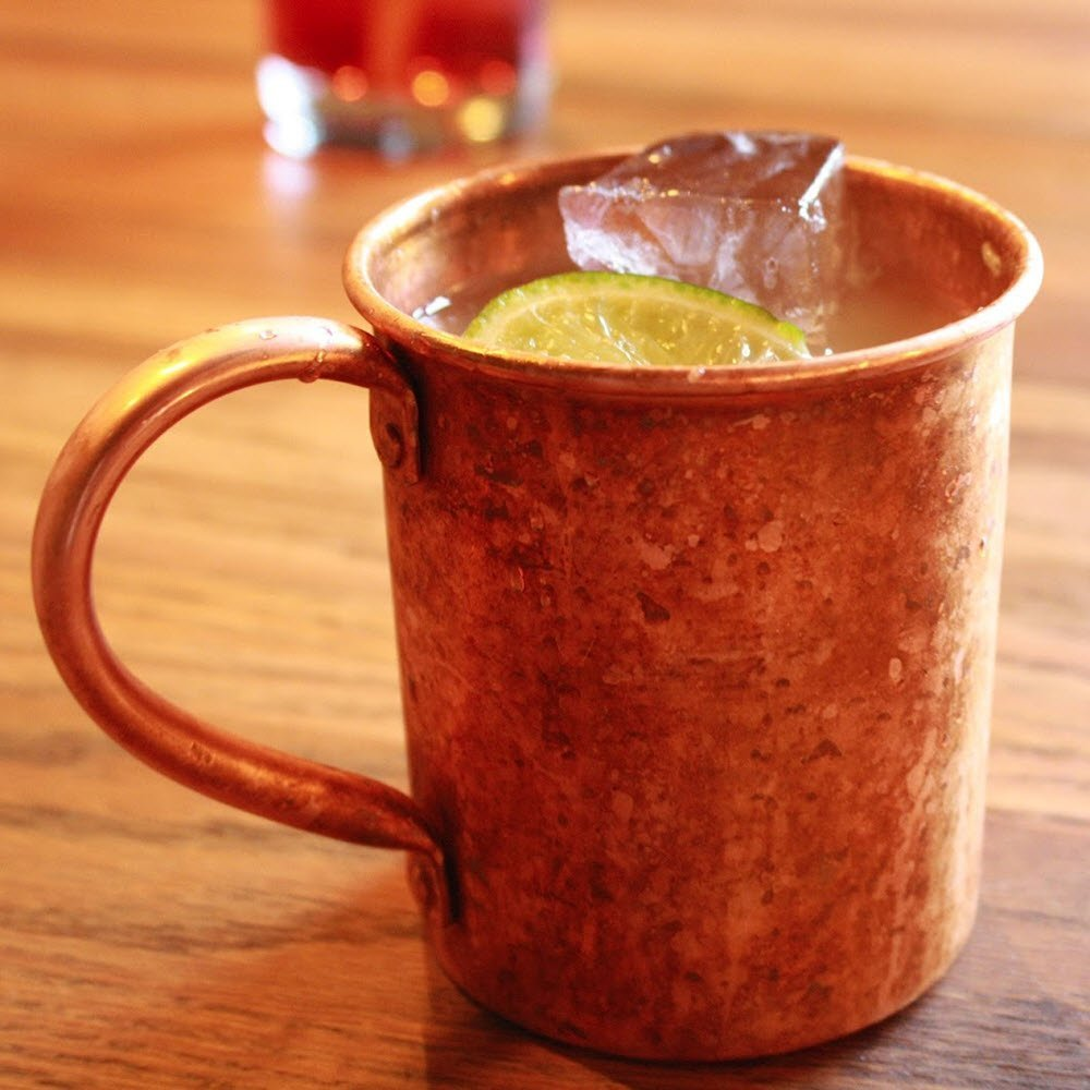 amazoncom moscow mule copper mug by solid copper authentic moscow mule mugs unlined 16 oz kitchen u0026 dining - Mule Mug