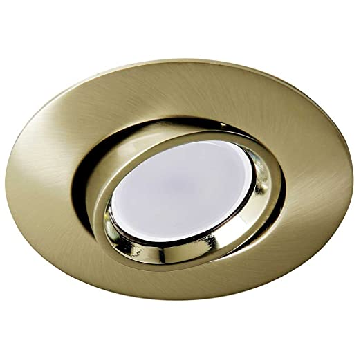 Wonderlamp Foco empotrable techo ROUND II color oro viejo (Ojo de buey basculante 45º)