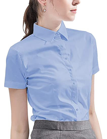 Diig Camisa De Vestir Para Mujer Manga Larga Blusas Color