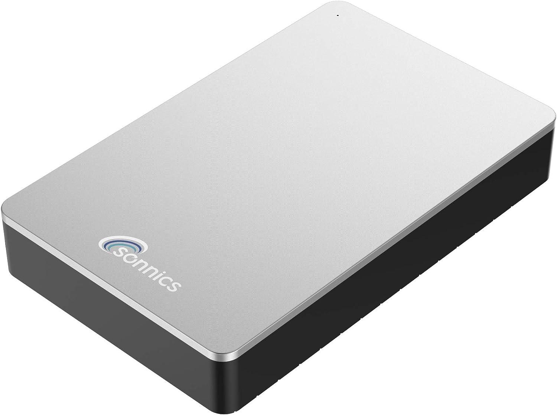 Sonnics - Disco Duro Externo para Ordenador de sobremesa (USB 3.0, Compatible con Windows PC, Mac, Smart TV, Xbox One y PS4) Plata 750 GB: Amazon.es: Informática