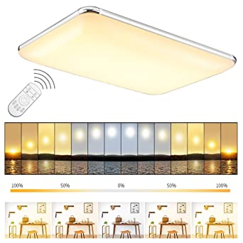 Etime Led Deckenleuchte Dimmbar Deckenlampe Modern Wohnzimmer Lampe